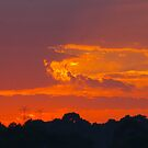 Tangerine Daybreak Over The Hills by David McMahon