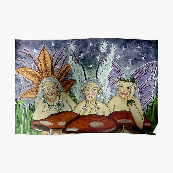 Wize Wimmin Fae - Fairy Art Poster