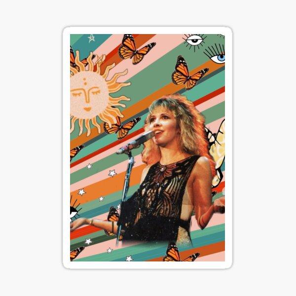 Stevie Nicks groovy 70's background  Sticker