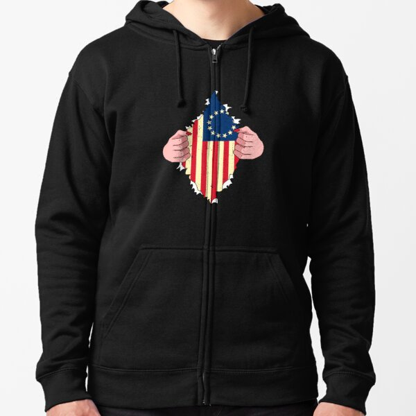 Patriot USA Flag Stars and Stripes Men 3D Print Pullover Hoodie Sweatshirt with Front Pocket