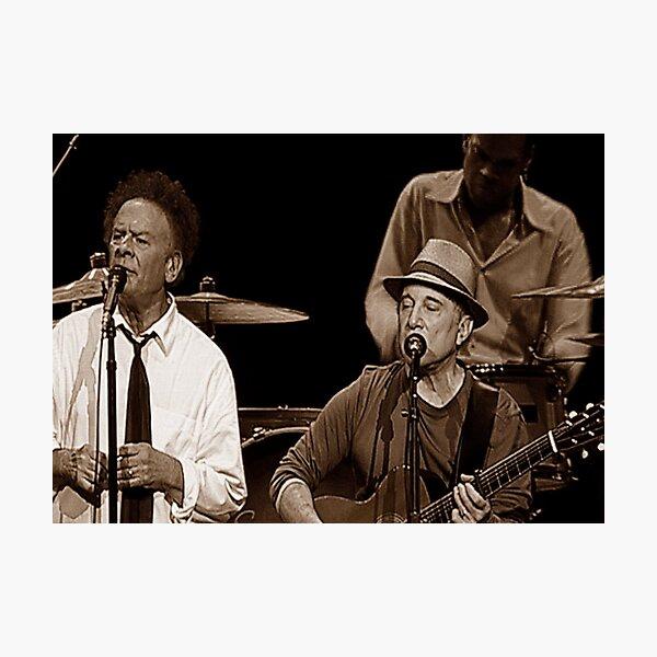 Simon & Garfunkel Live In  Concert Photographic Print