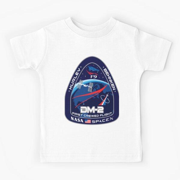 Crew Dragon Flight Demo 2 Kids T-Shirt