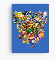 Mario Bros - All Star Canvas Print