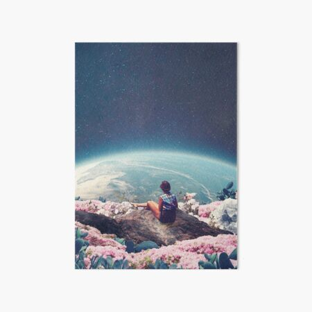 My World Blossomed when I Loved You Art Board Print