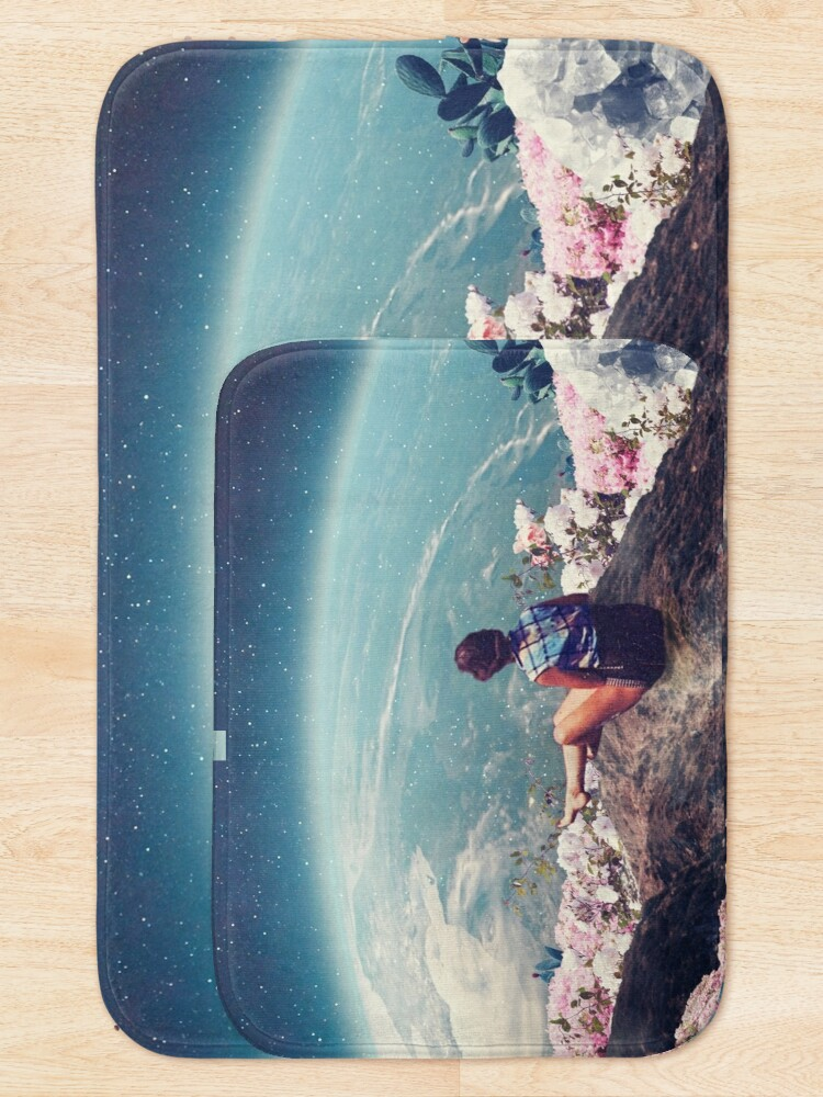 Alternate view of My World Blossomed when I Loved You Bath Mat