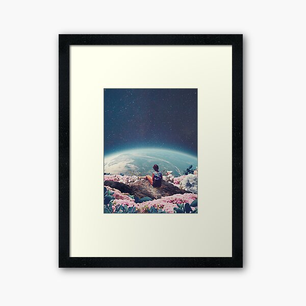 My World Blossomed when I Loved You Framed Art Print
