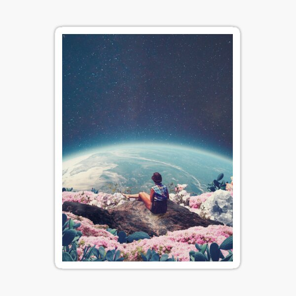 My World Blossomed when I Loved You Sticker