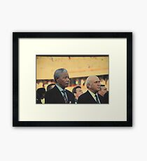 A Sombre Moment Framed Print