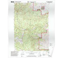 USGS Topo Map Oregon Rail Creek Butte 281217 1998 24000 Poster