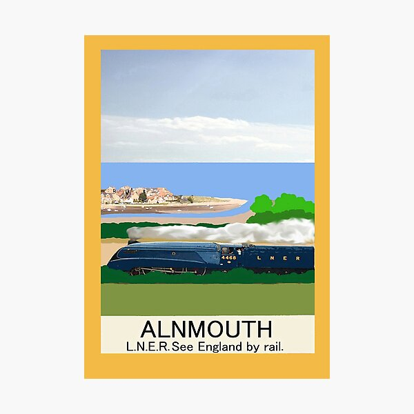 Alnmouth Poster Photographic Print