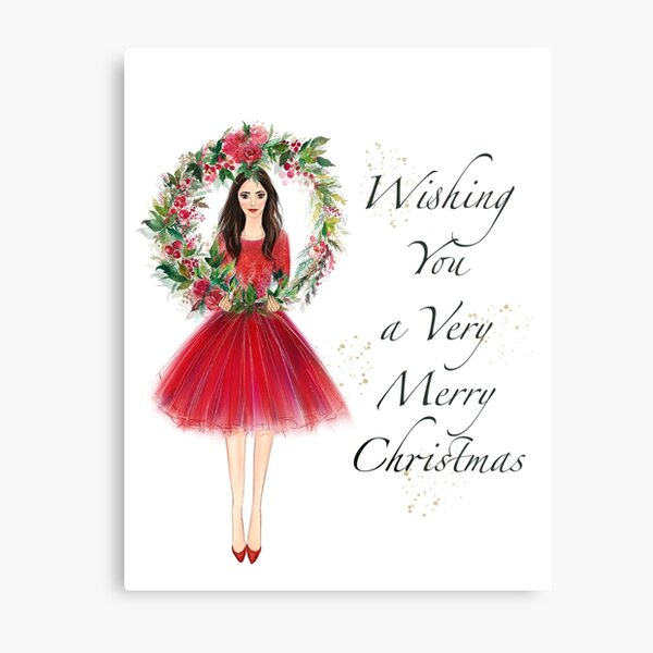 Christmas greeting card  Metal Print
