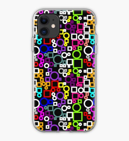 Happy Circles and Squares iPhone Case