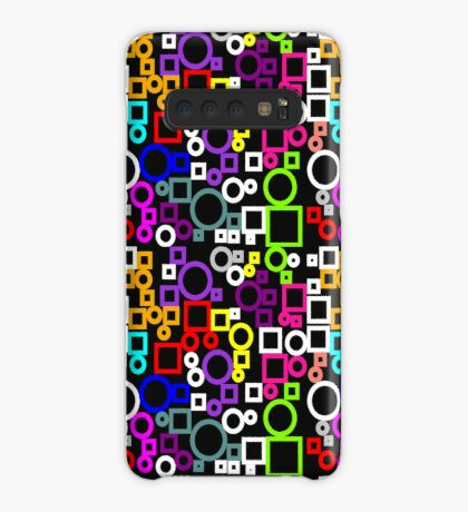 Happy Circles and Squares Case/Skin for Samsung Galaxy