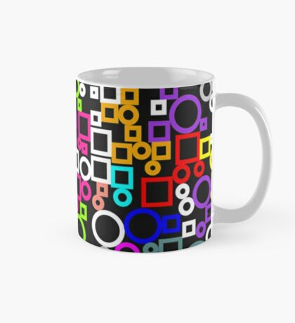 Happy Circles and Squares Mug