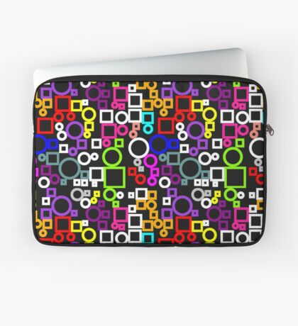 Happy Circles and Squares Laptop Sleeve