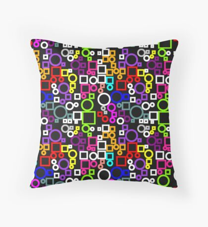 Happy Circles and Squares Floor Pillow