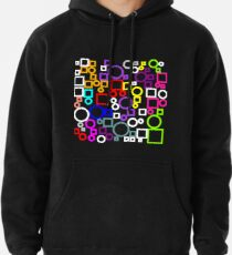 Happy Circles and Squares Pullover Hoodie