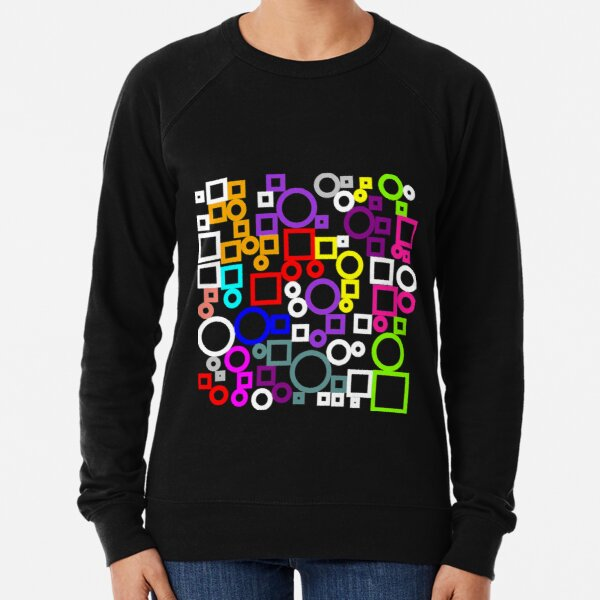 Happy Circles and Squares Lightweight Sweatshirt
