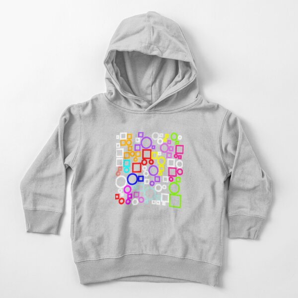Happy Circles and Squares Toddler Pullover Hoodie