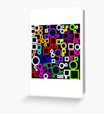 Happy Circles and Squares Greeting Card