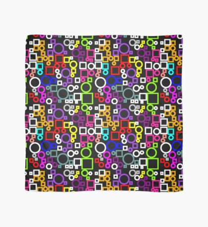 Happy Circles and Squares Scarf