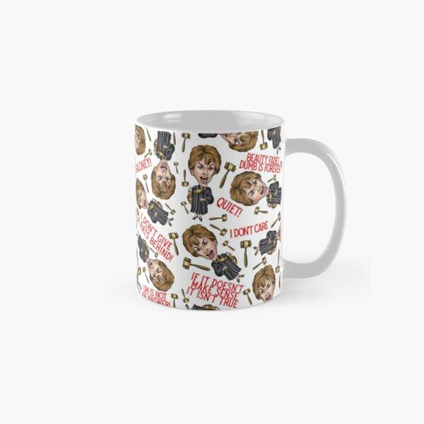 White Judge Judy Print  Classic Mug