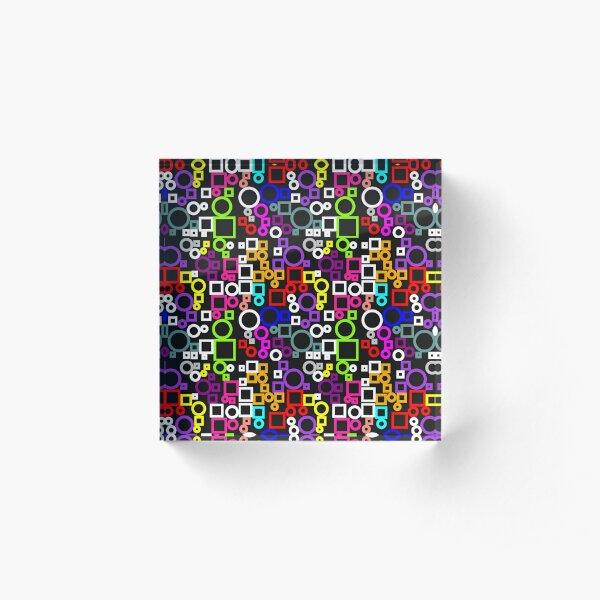 Happy Circles and Squares Acrylic Block