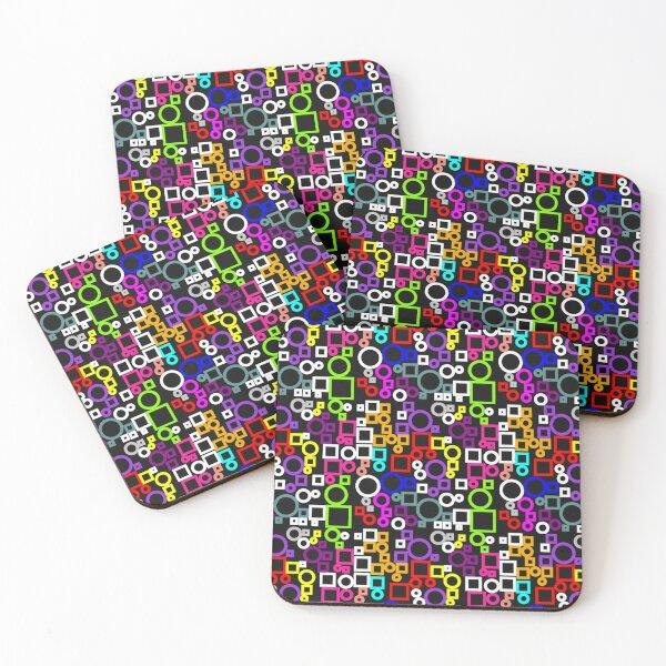 Happy Circles and Squares Coasters (Set of 4)