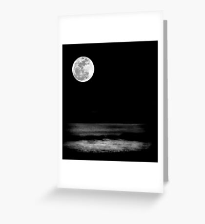 Moon and Waves Greeting Card