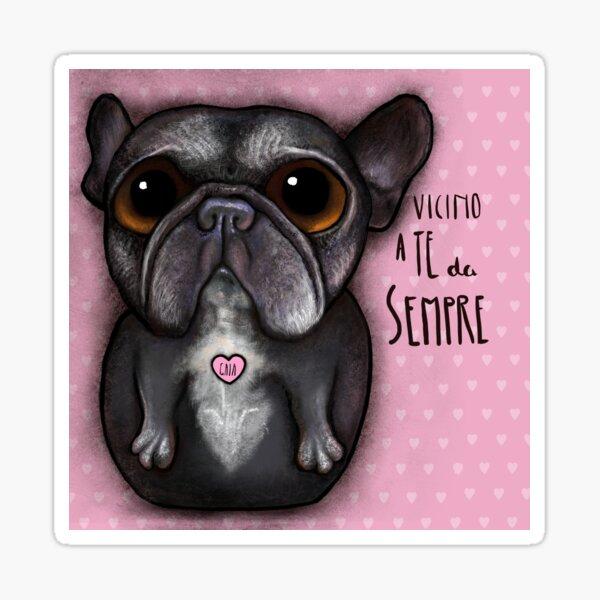 Black Franch bulldog Sticker