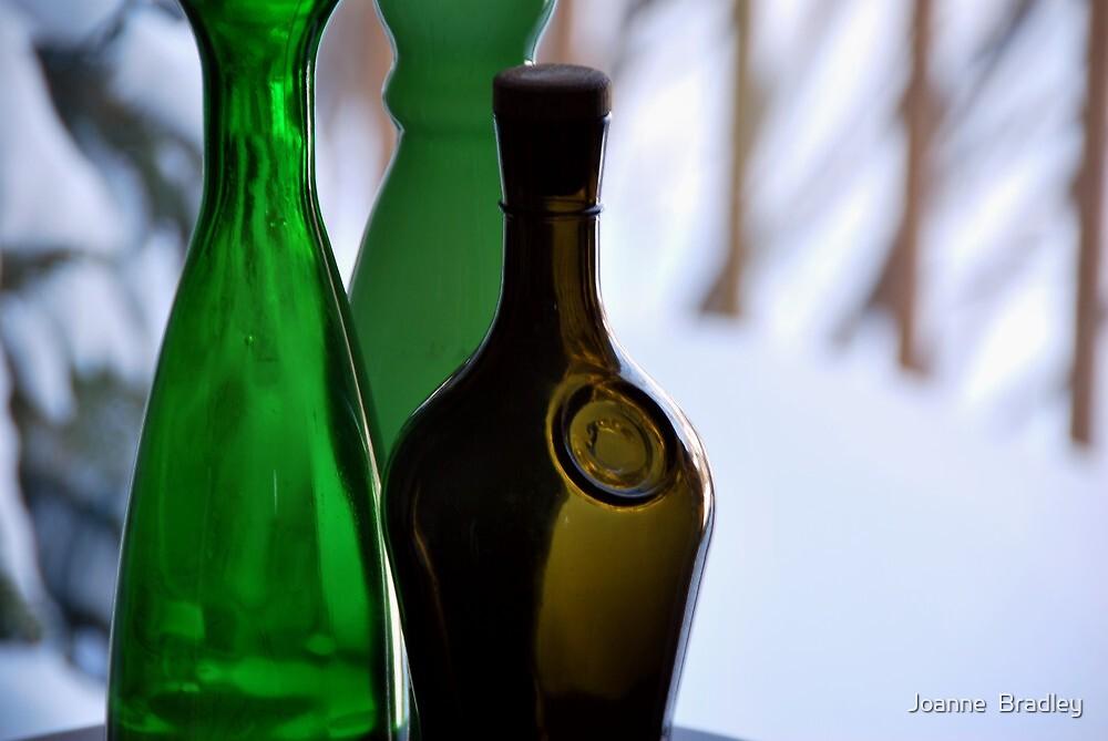 Vintage Glass Bottles by Joanne  Bradley