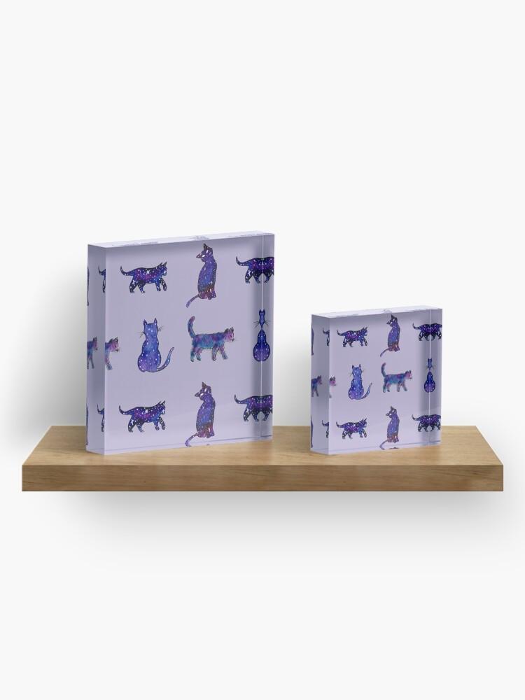 Alternate view of Magical Cat Art Acrylic Block