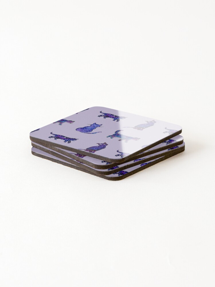 Alternate view of Magical Cat Art Coasters (Set of 4)