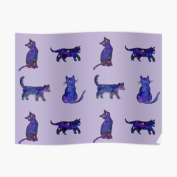 Magical Cat Art Poster