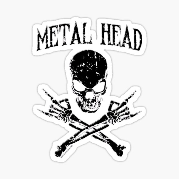 Megadeth WHITE Sticker decal Car window music rock bumper punk head banger