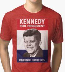 JFK Campaign Poster Tri-blend T-Shirt