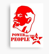 lenin - power to the people Canvas Print