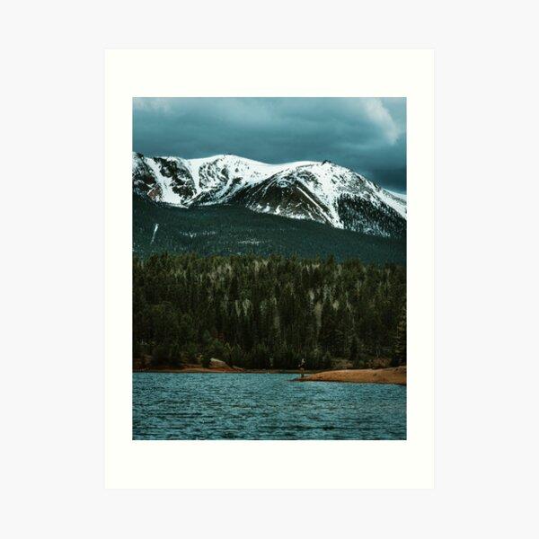 Fisherman in the Rockies Art Print