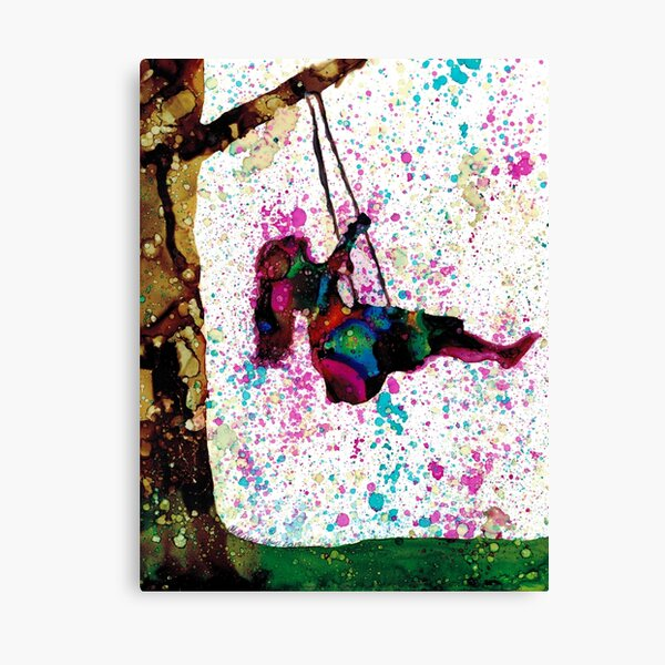 Freedom:  Original Alcohol Ink Painting Canvas Print