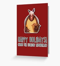 Happy Holidays from the Holiday Armadillo Greeting Card
