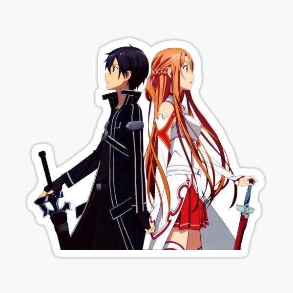 Kirito y Asuna kawaii Pegatina