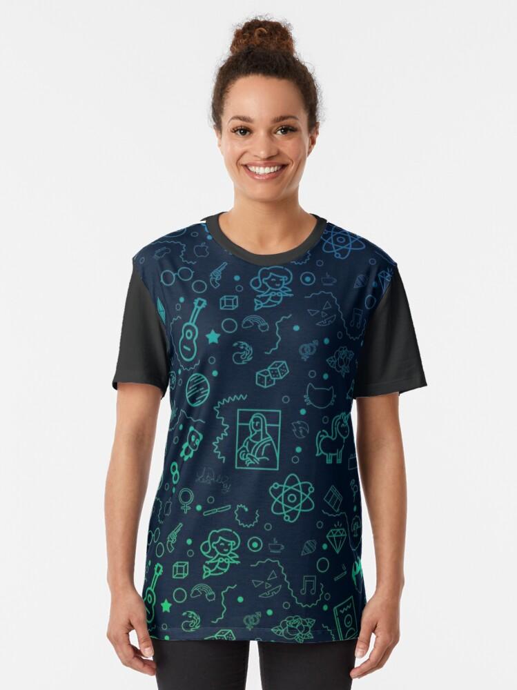 T-shirt graphique ''Geek Color': autre vue