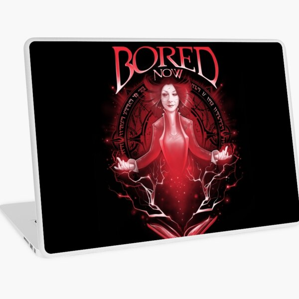Bored Now Laptop Skin