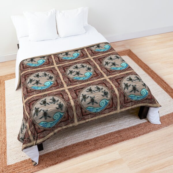 Baby Sea Turtles tapa siapo South Pacific Comforter