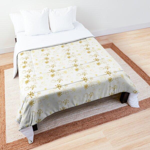Golden winter vector Comforter