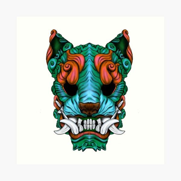 Turquoise sea Foo Dog Art Print