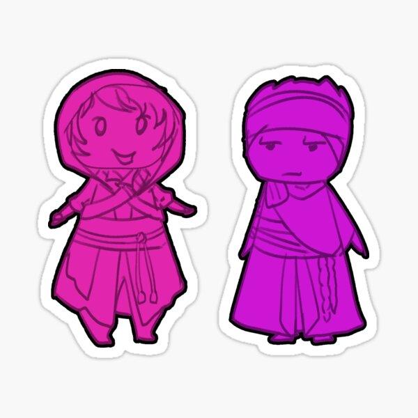 Jin & Horobi  Zero-One Chibi Stickers Sticker