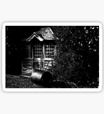 Shed in the Shadows Glossy Sticker