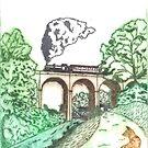 Daniels Mill in Bridgnorth, Shropshire by CraftyBunStudio