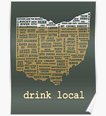 Lokales Getränk - Ohio-Bier-Hemd Poster